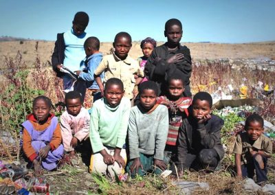 Abandoned Xhosa children